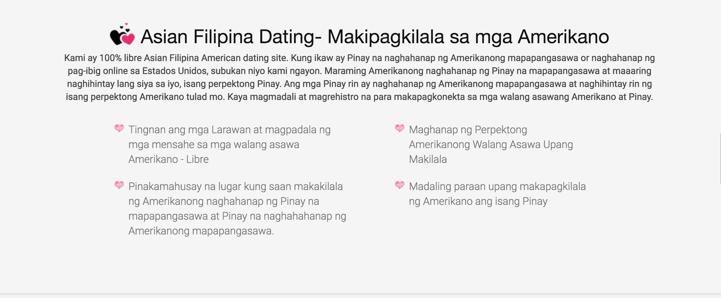 list of dating site in the philippines There are 200 million people on facebook who list themselves the philippines and facebook will log interactions on the dating site.