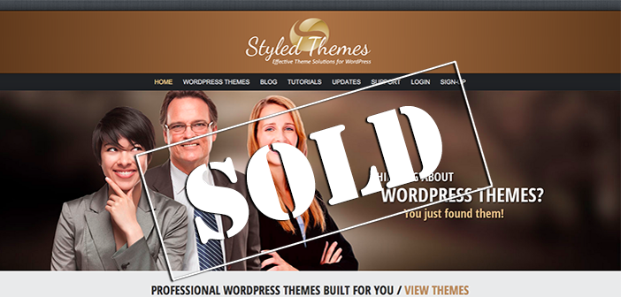Exclusive interview with the new owner of StyledThemes.com, purchased at auction for $32,000!
