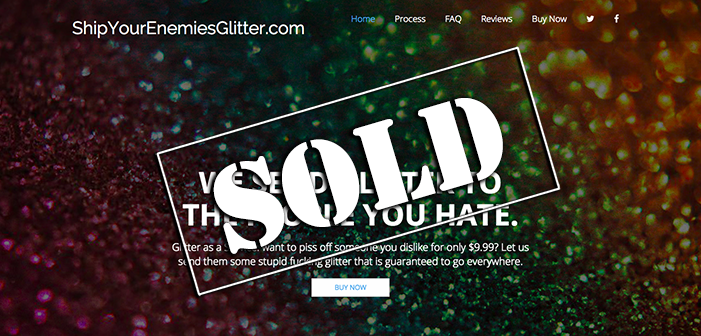 ShipYourEnemiesGlitter.com sells for $85,000 on Flippa, and we have an exclusive interview with the new owner!
