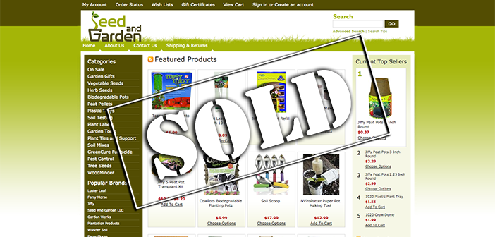 Buyer interview with the new owner of SeedAndGarden.com, a website purchased at auction on Flippa for $22,500!