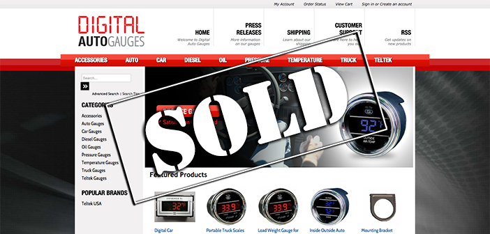 Don't miss this interview with the seller of Digital-Auto-Gauges.com, sold at auction for $16,100 on Flippa!