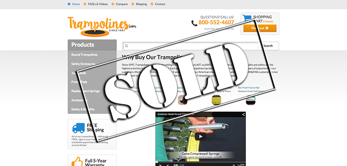 Trampolines.com sells at auction for $81,500 on Flippa, don't miss this exclusive buyer interview!