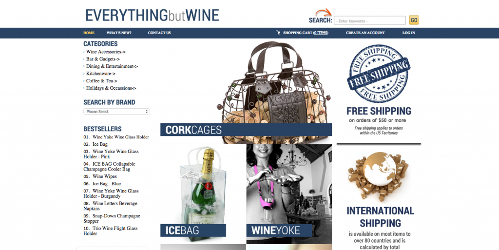 Website EVERYTHINGbutWINE.com is for sale on Flippa!