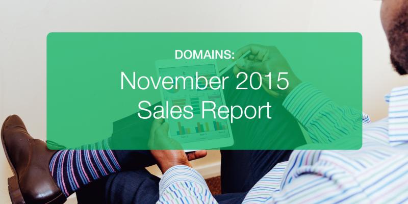 November Domain Sales Report