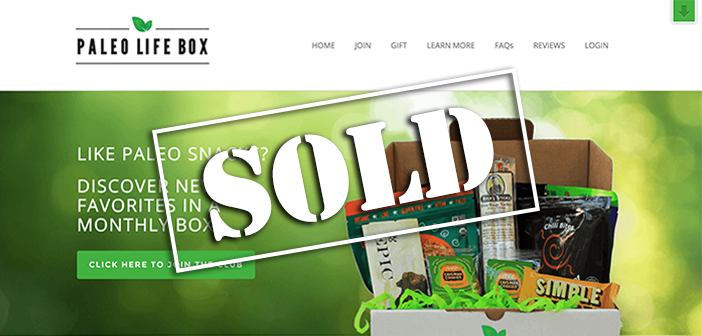 Website For Sale PaleoLifeBox.com acquired on Flippa for $13,0000
