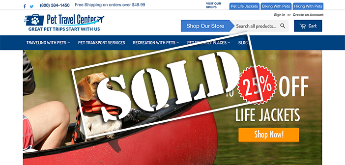 Pet Travel eCommerce Business Sold For $31,500