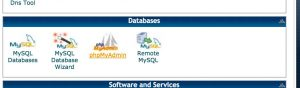 PHPMyAdmin Screenshot