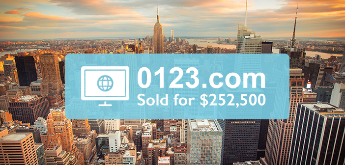 SELLER SUCCESS - How 0123.com Sold for $252,500