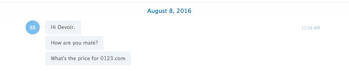 First Skype Conversation