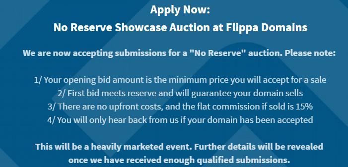 No Reserve Showcase Auction