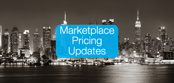 Marketplace Pricing Updates