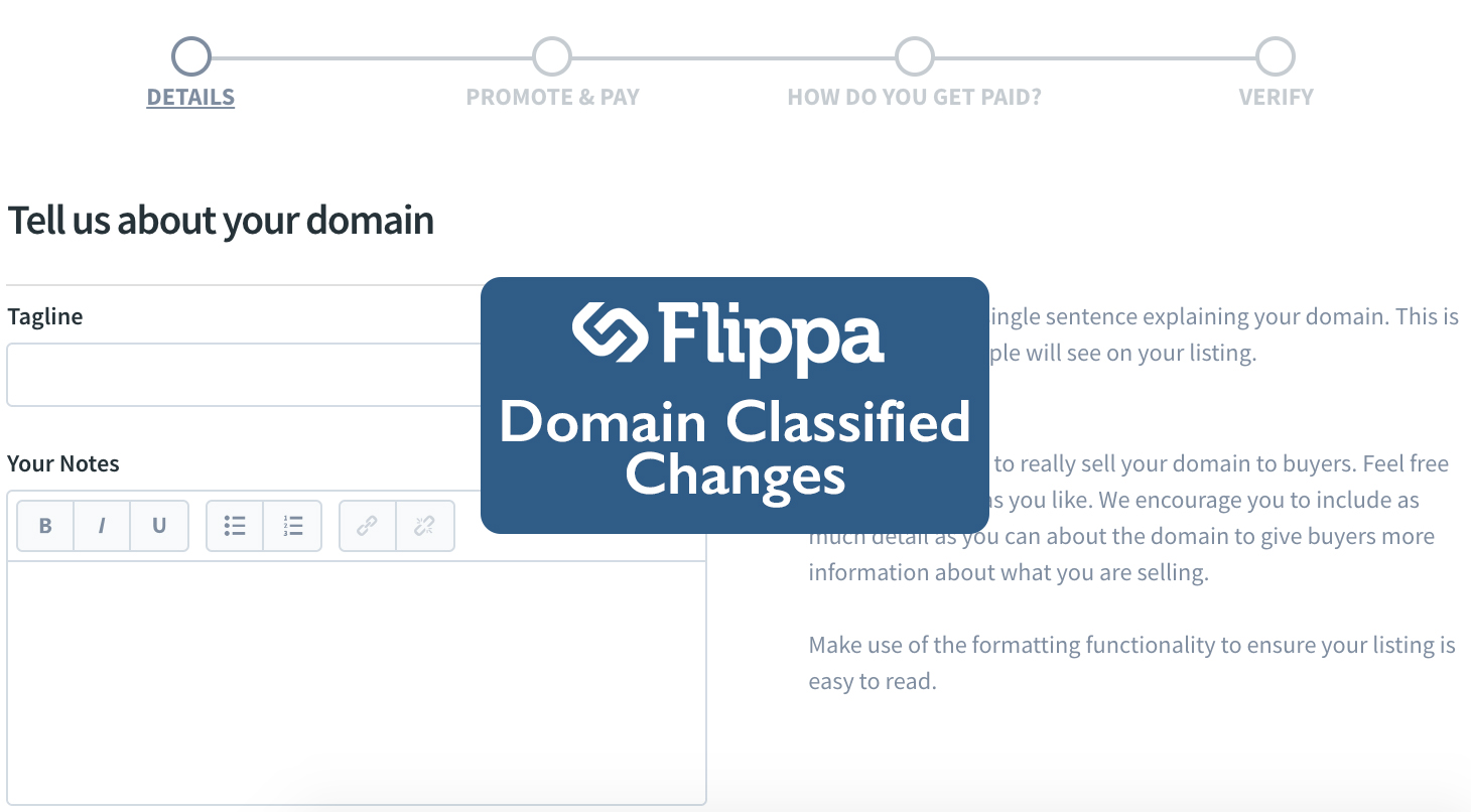 Pricing Change to Domain Classified Listings