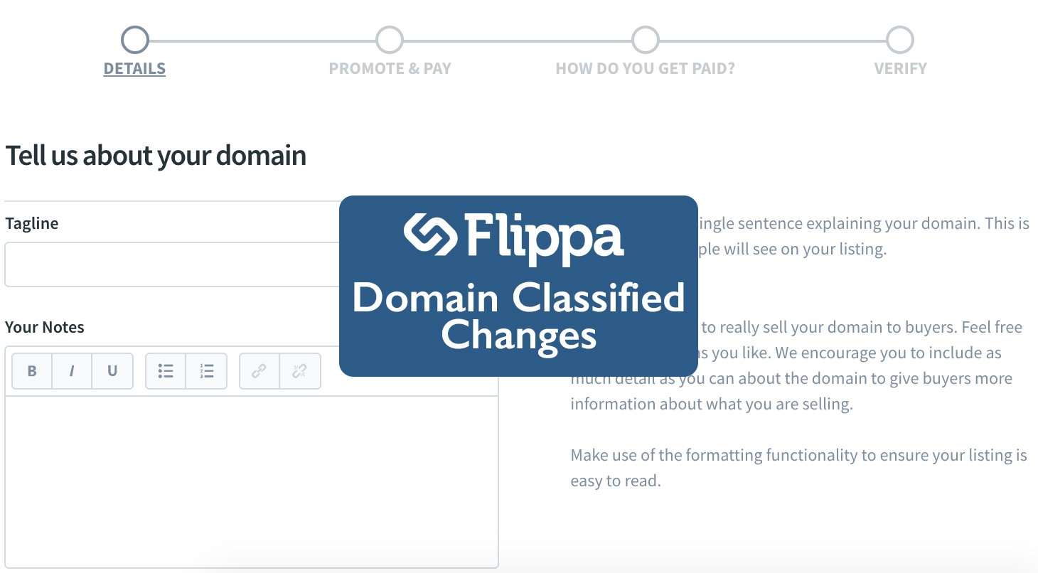Domain Classified Changes