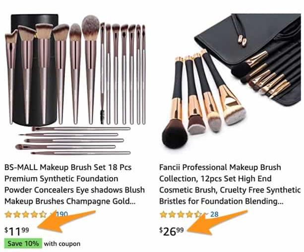 comparative pricing