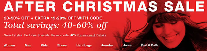 after christmas promotion